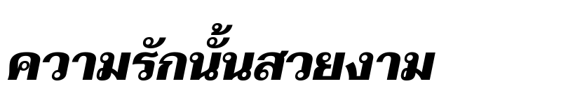 Preview of Taviraj Black Italic