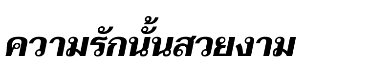 Preview of Taviraj Bold Italic