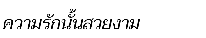 Preview of Taviraj Italic